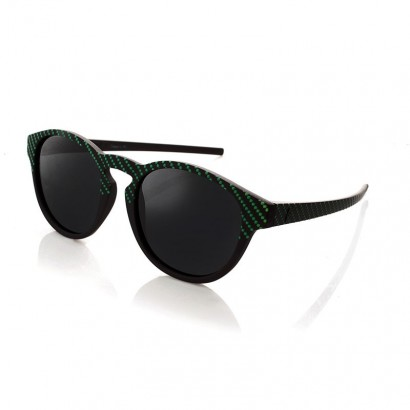 VERTIGO GREEN - con lenti nere polarizzate