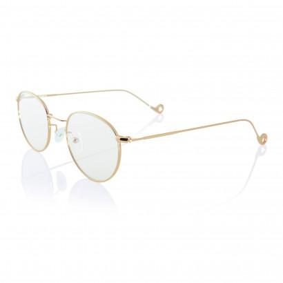 Gold One - monatura dorata in acciaio per occhiali da vista