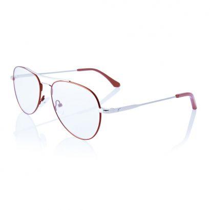 Voyager - montatura occhiali da vista in metallo - colori rosso e argento